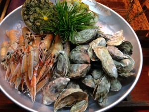 oesters, langoustine, vongele